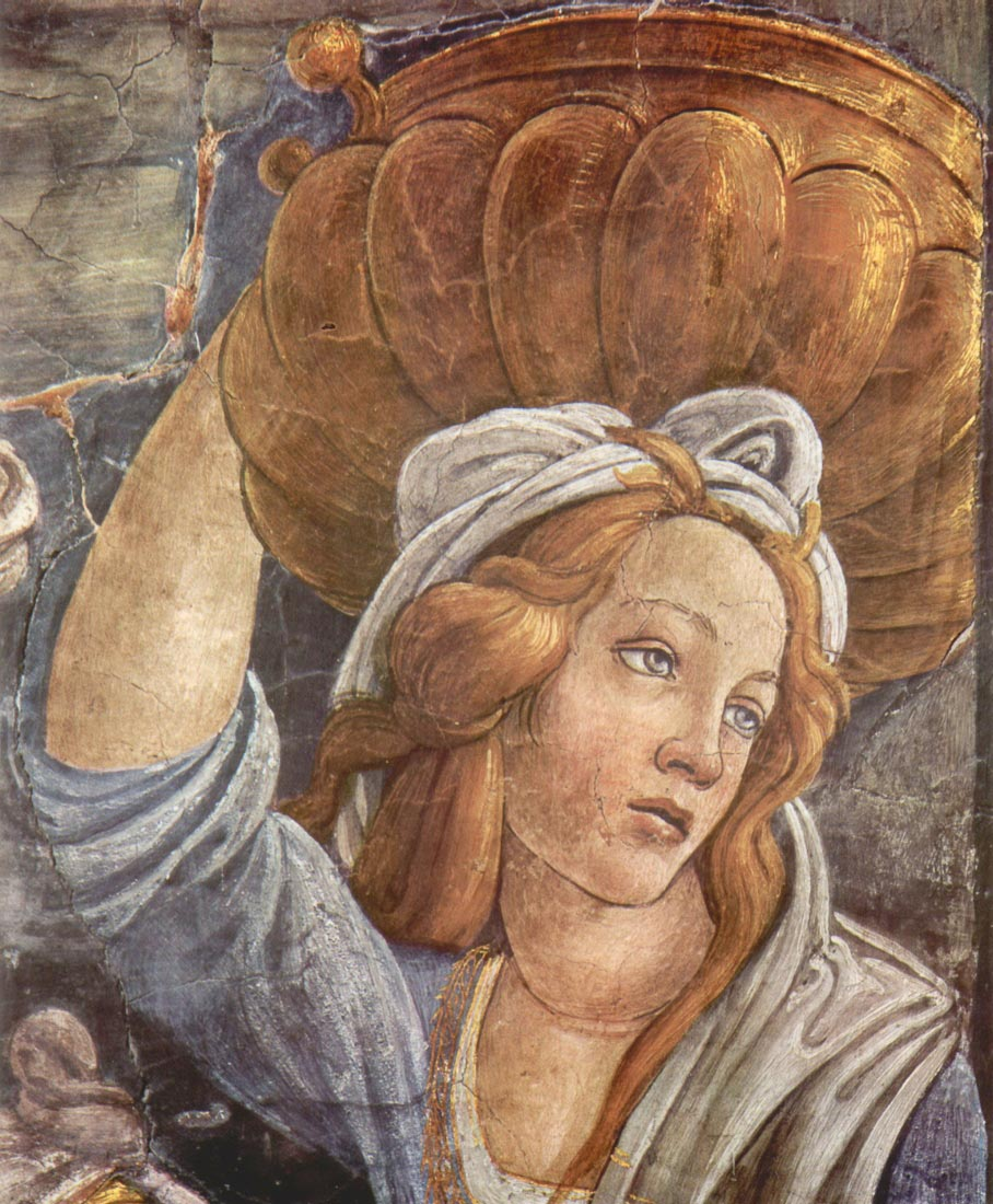 Sistine Chapel -The youth of Moses Detail 3 - Botticelli