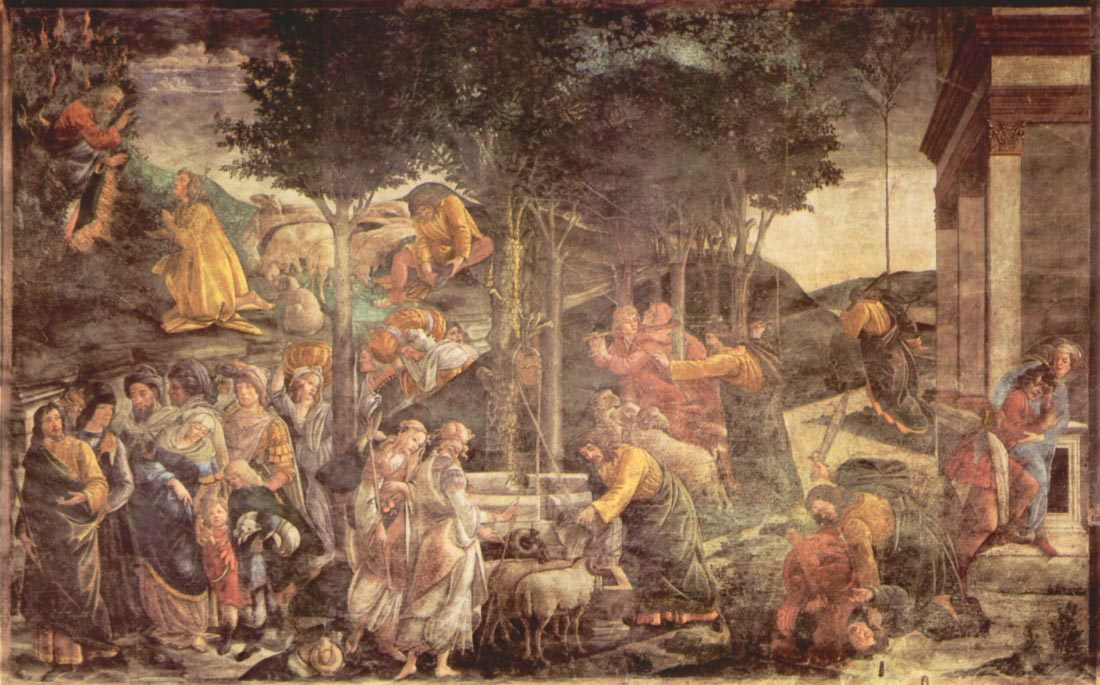 Sistine Chapel -The youth of Moses - Botticelli