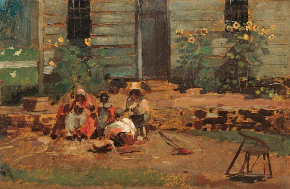 Sketch of a Cottage Yard - Winslow Homer