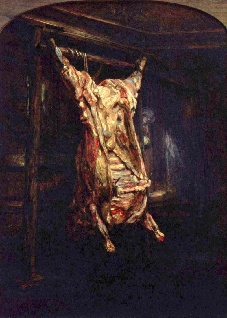Slaughtered Ox - Rembrandt