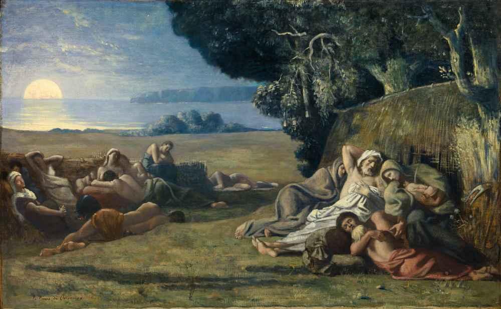 Sleep - Pierre Puvis de Chavannes