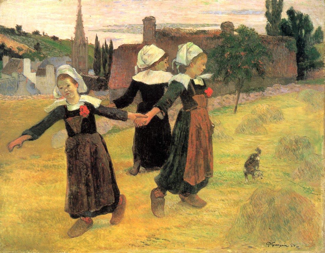 Small Breton Women - Gauguin