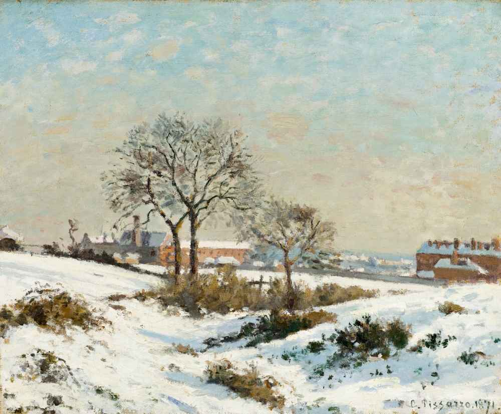 Snowy Landscape at South Norwood - Camille Pissarro