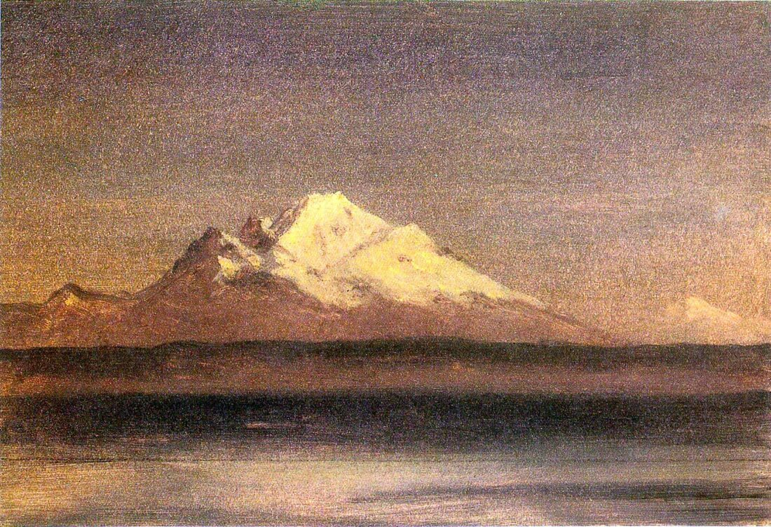 Snowy Mountains in the Pacific Northwest 2 - Bierstadt