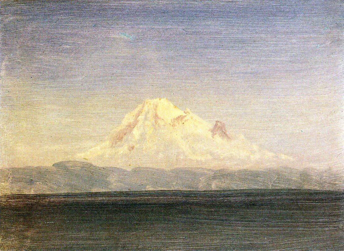 Snowy Mountains in the Pacific Northwest - Bierstadt