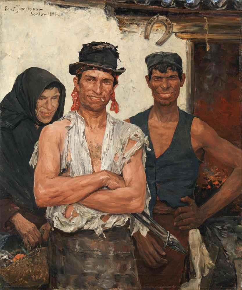 Spanish Blacksmiths - Ernst Abraham Josephson