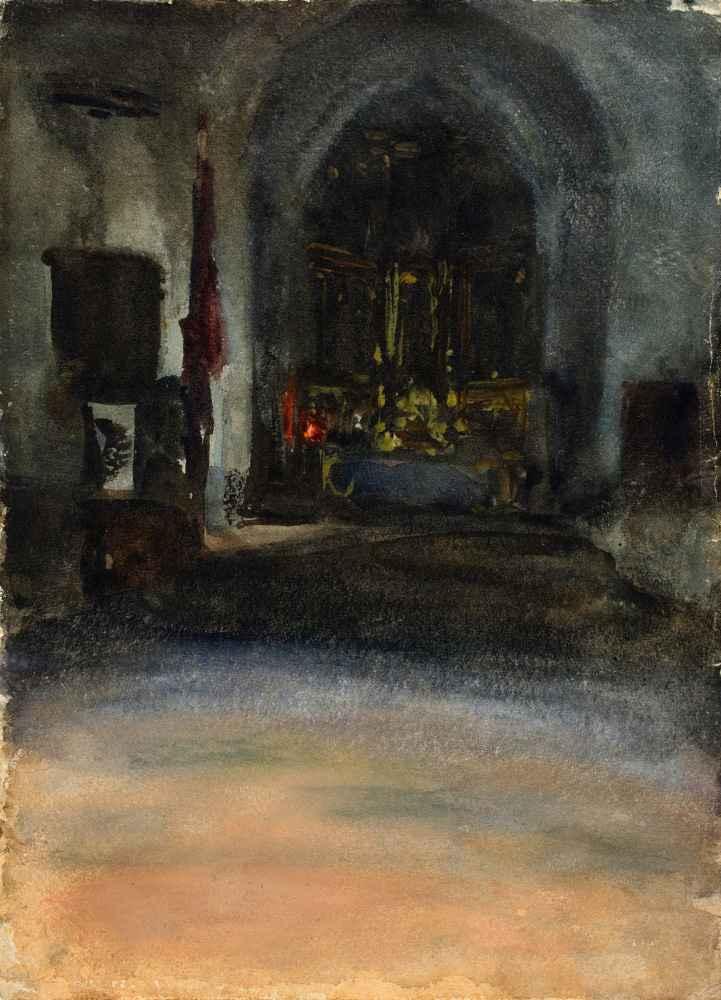 Spanish Church Interior - John Singer Sargent