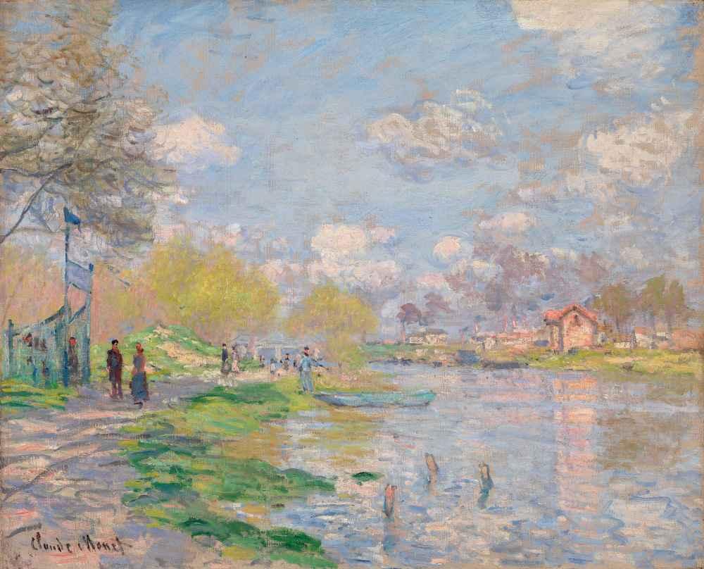 Spring by the Seine - Claude Monet