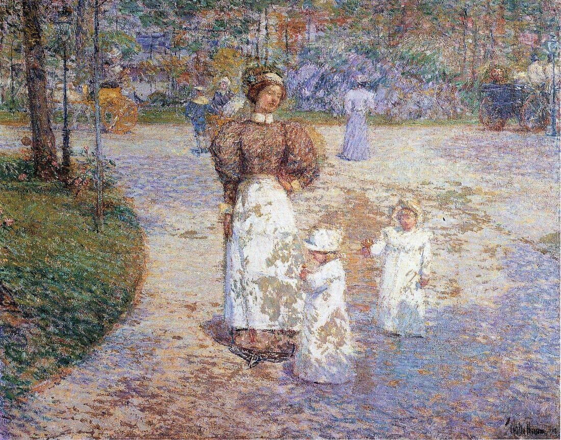 Spring in Central Park - Hassam