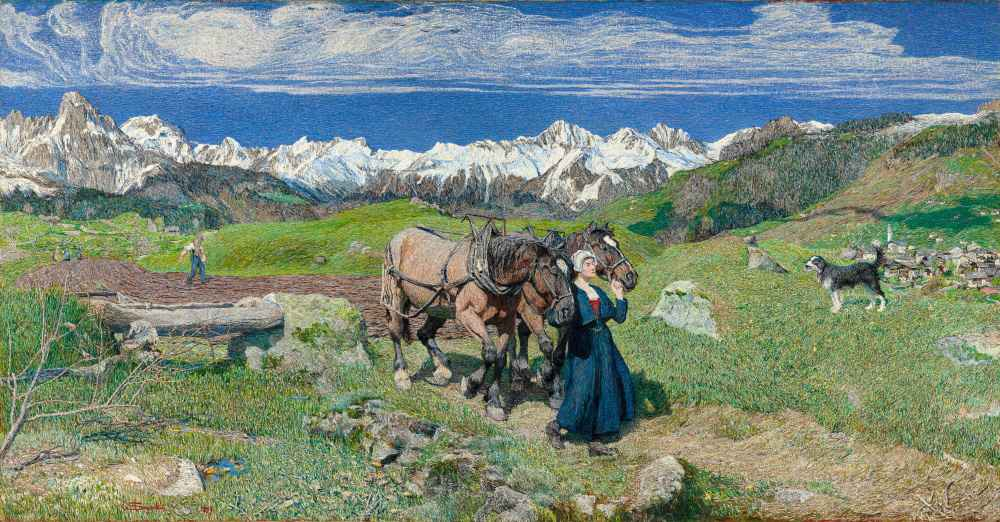 Spring in the Alps - Giovanni Segantini