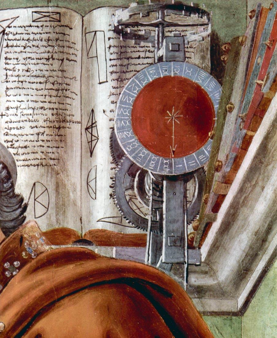 St. Augustine in prayer Detail 2 - Botticelli