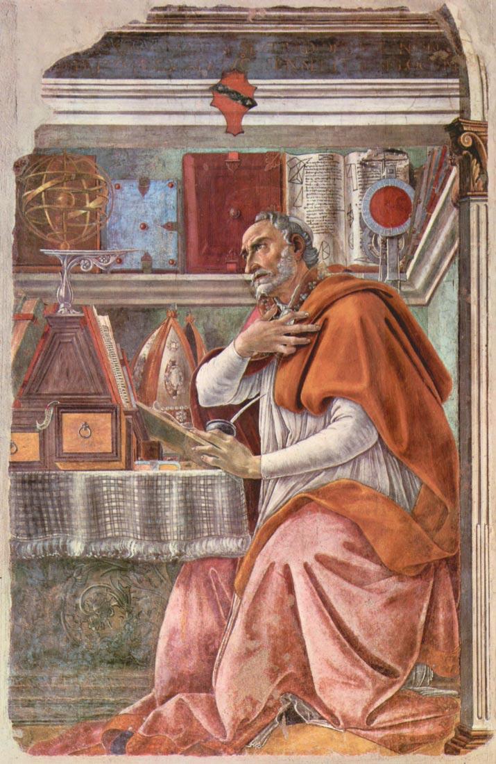 St. Augustine in prayer - Botticelli