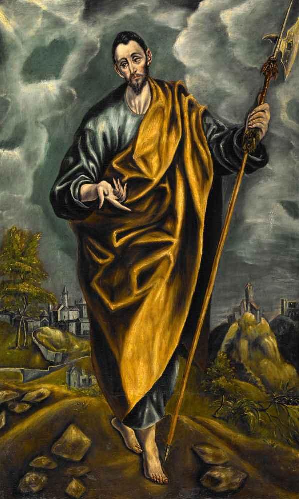 St. Judas Thaddaeus or St. Thomas - El Greco