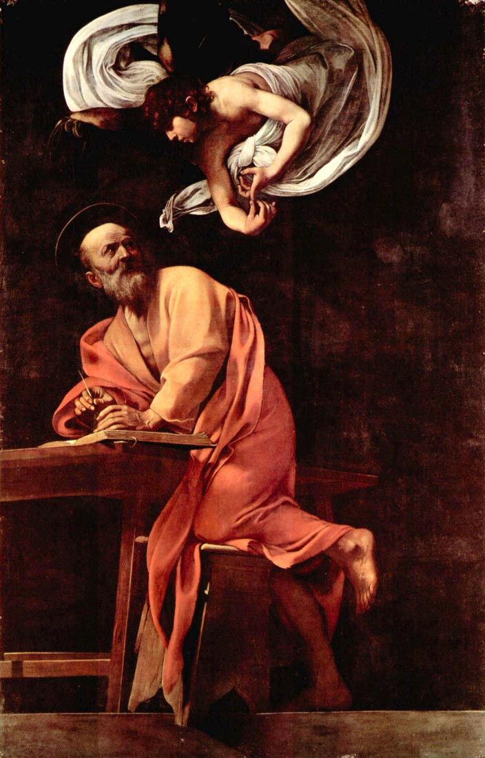 St. Matthew and the Angel - Caravaggio