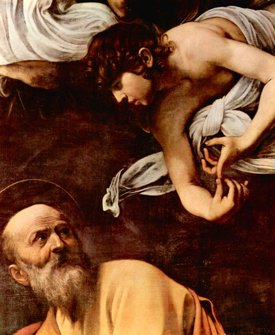 St. Matthew and the Angel detail - Caravaggio
