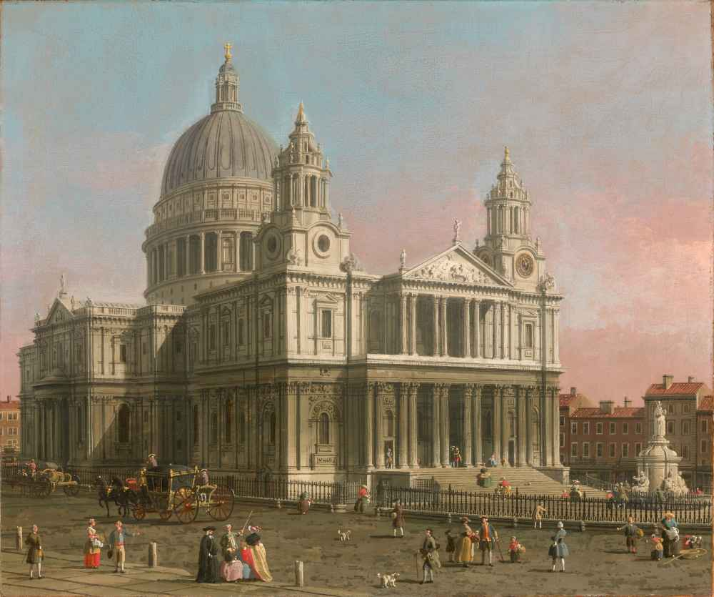 St. Pauls Cathedral - Canaletto - Bernardo Bellotto