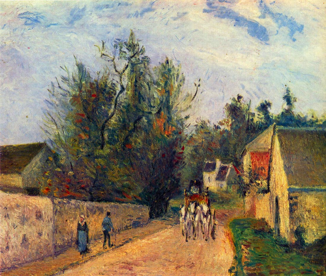 Stagecoach after Ennery - Pissarro
