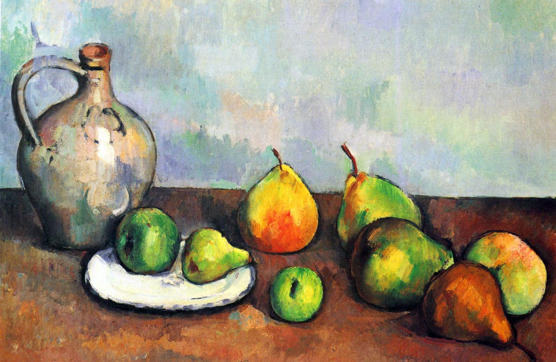 Still Life, Jar and Fruit - Cezanne