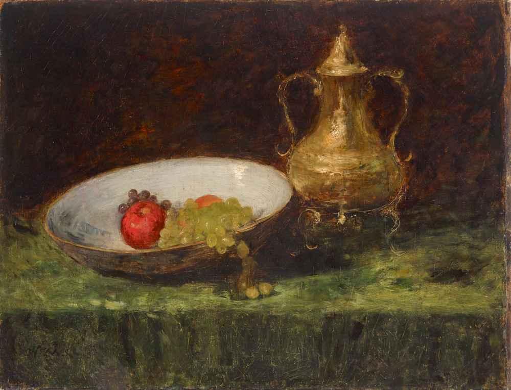 Still Life (Fruit and Copper Pot) - William Merritt Chase