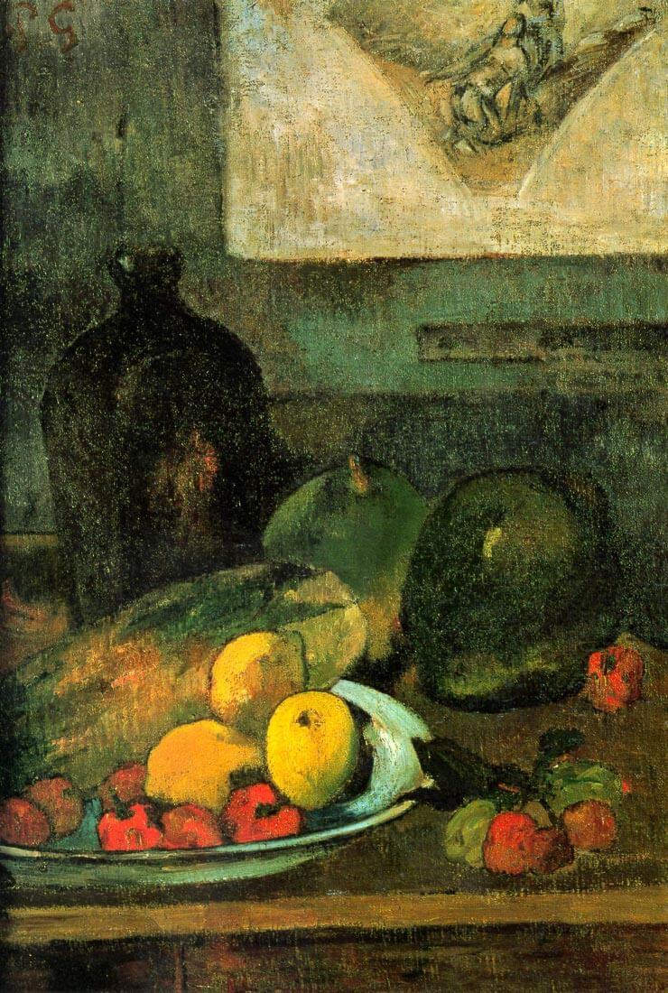 Still Life in Front of a Stich - Gauguin