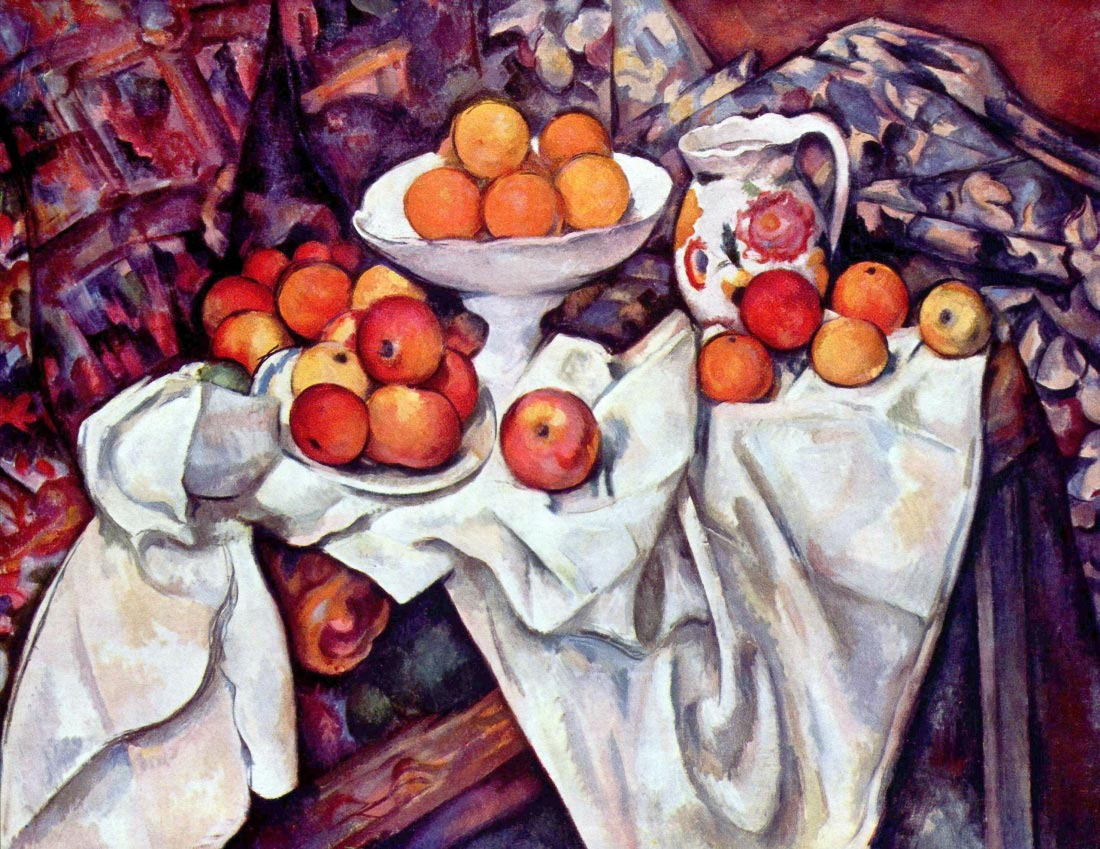 Still Life with Apples and Oranges - Cezanne