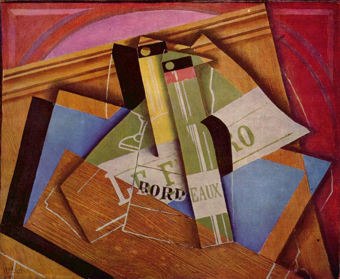 Still Life with Bordeau Winde - Juan Gris