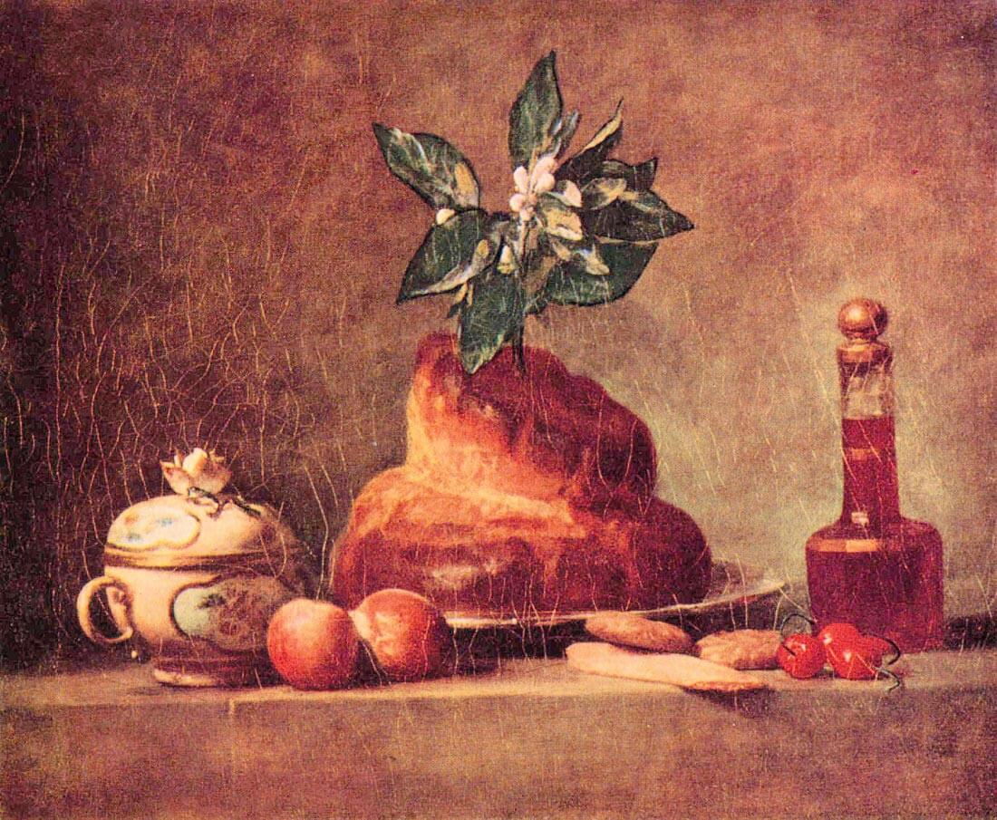 Still Life with Brioche - Jean Chardin