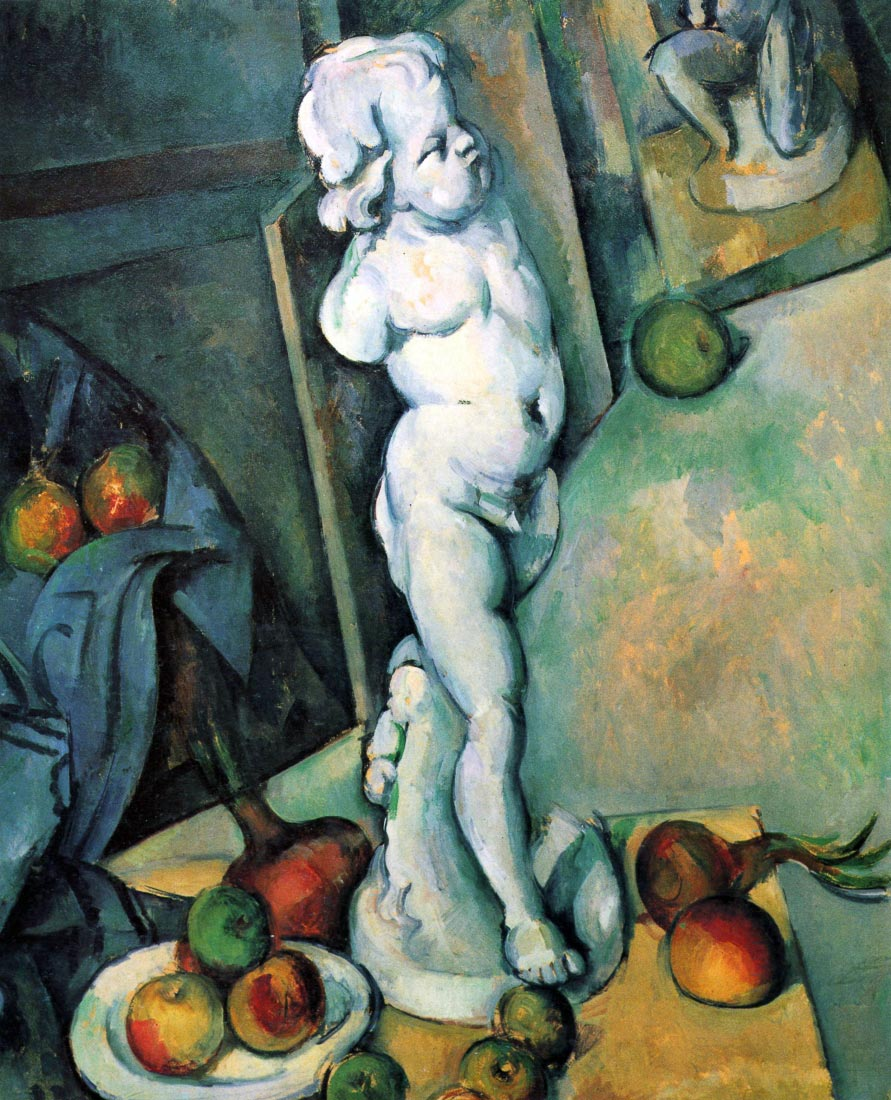 Still Life with Cherub - Cezanne