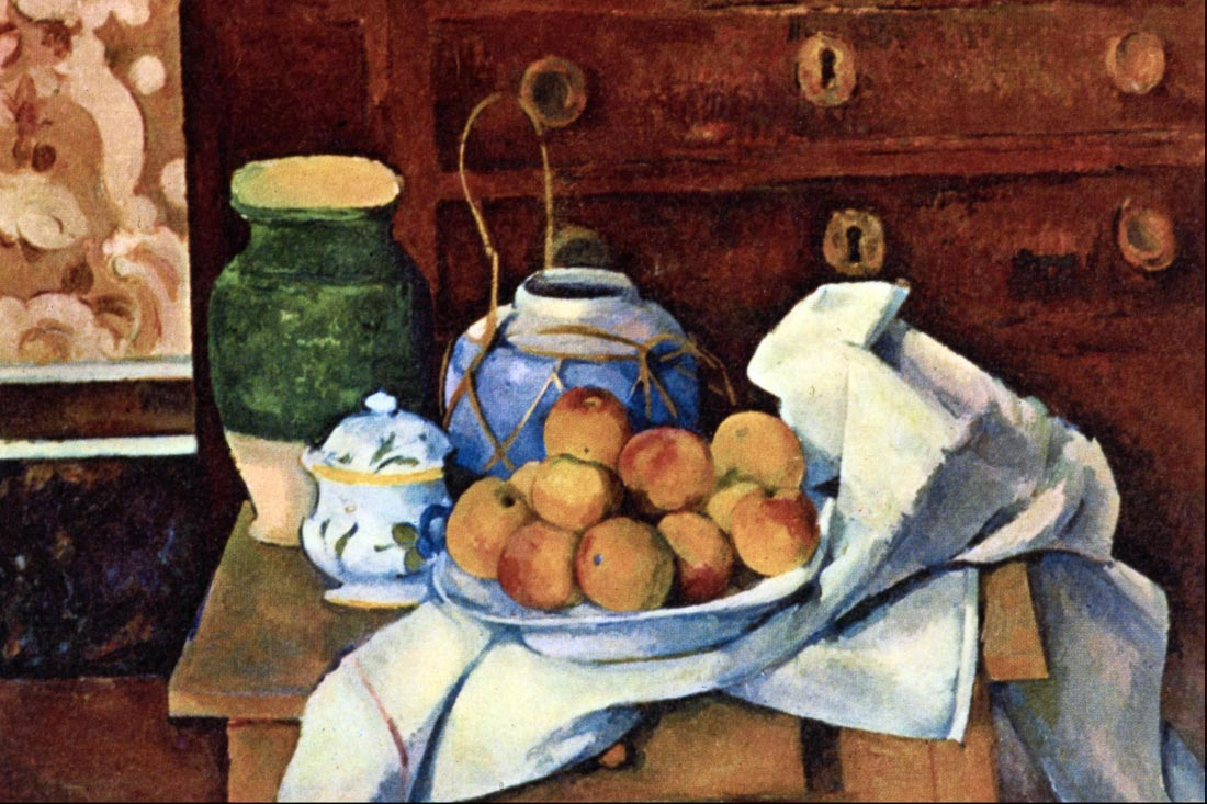 Still Life with Chest of Drawers - Cezanne