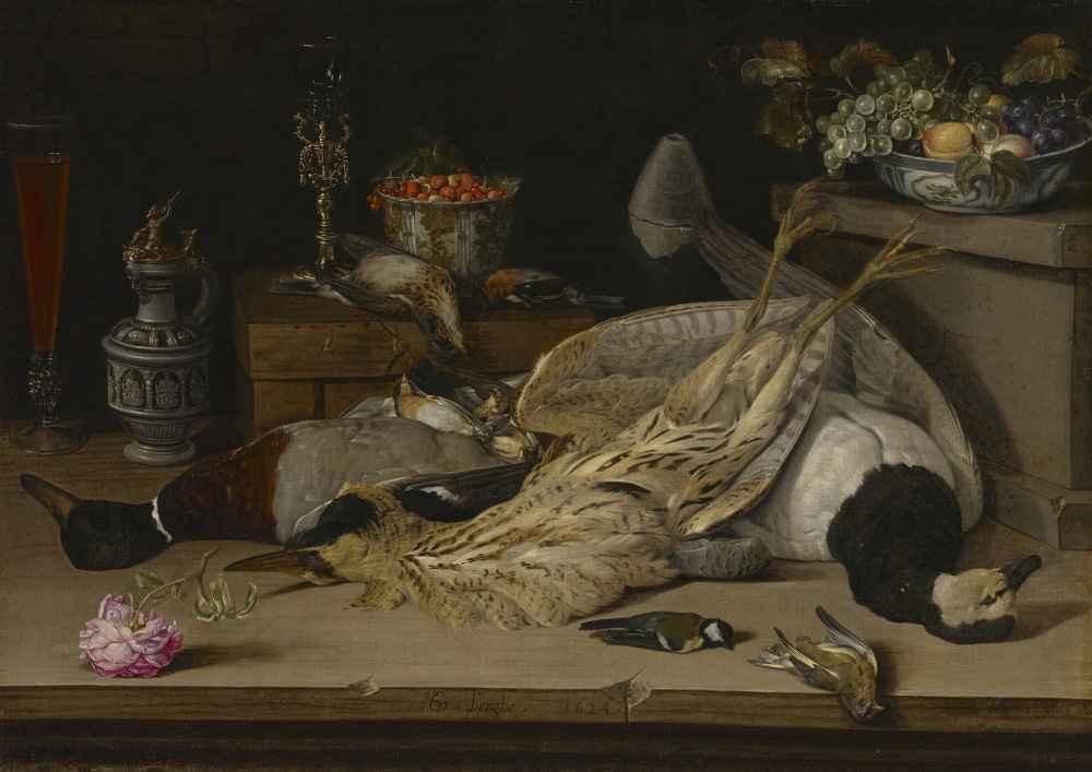 Still Life with Dead Birds - Christoffel van den Berghe