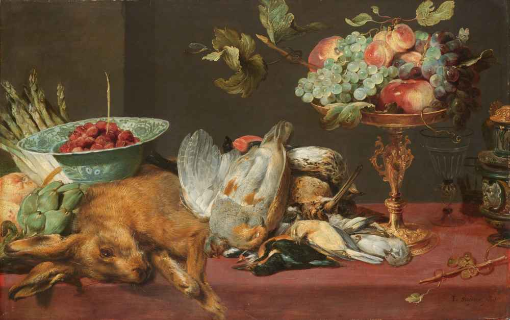Still Life with Dead Game, Fruit and Vegetables - Frans Snyders