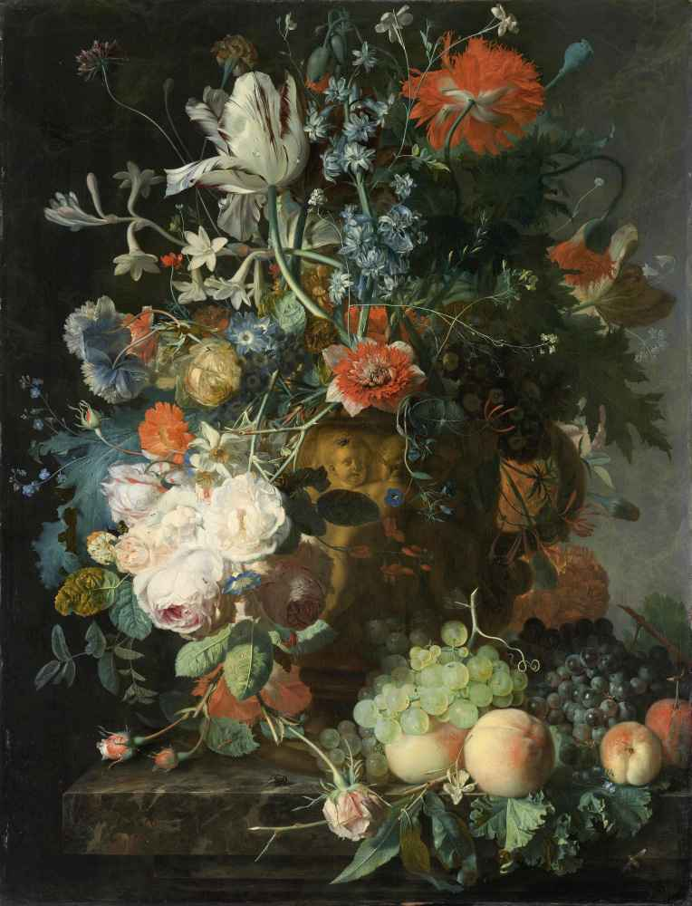 Still Life with Flowers and Fruit 2 - Jan van Huysum