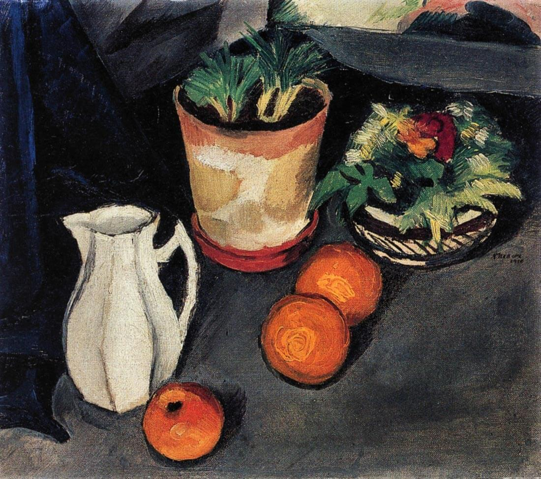 Still Life with Flowers and Milk Jug - August Macke