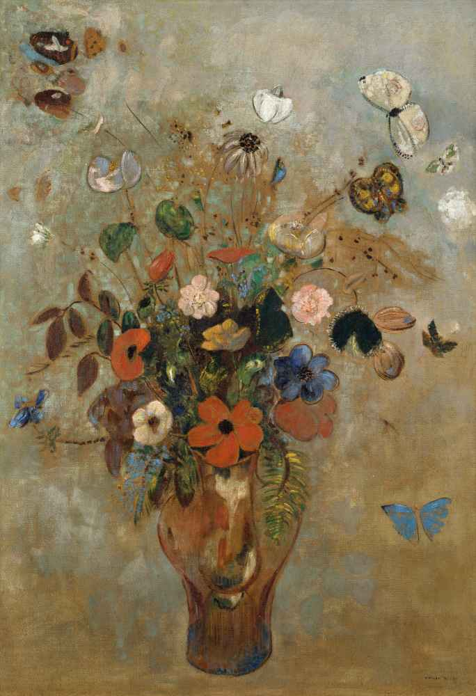 Still Life with Flowers - Odilon Redon