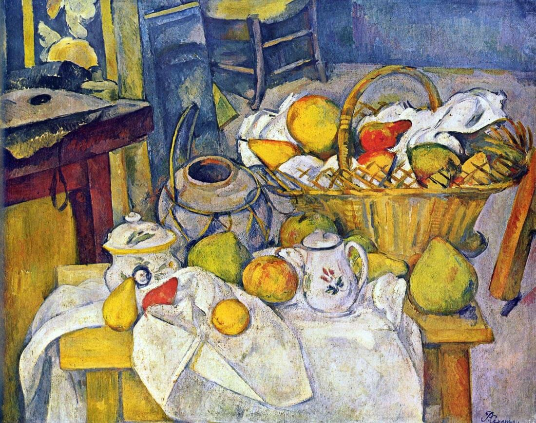 Still Life with Fruit Basket - Cezanne