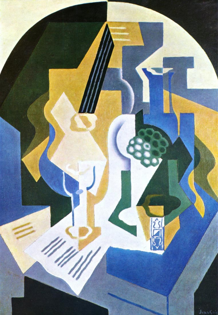 Still Life with Fruit bowl and mandolin - Juan Gris