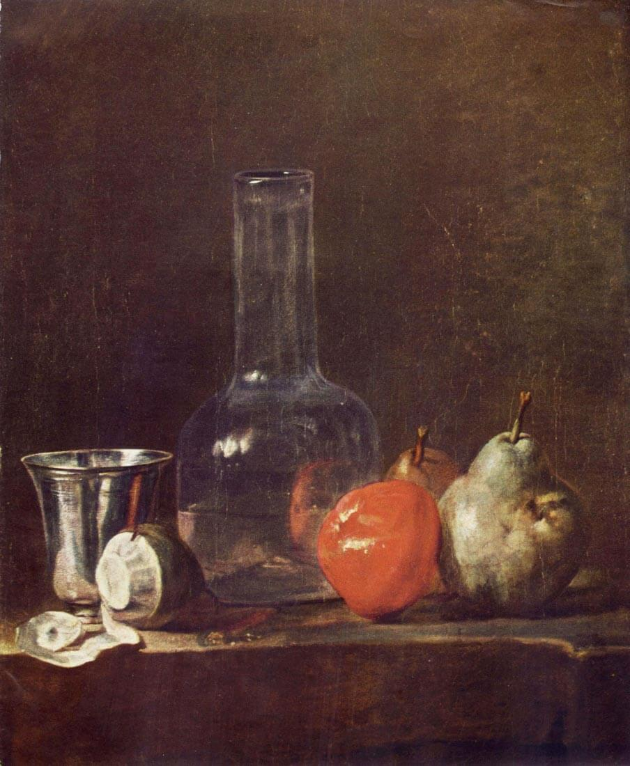 Still Life with Glass and fruits - Jean Chardin
