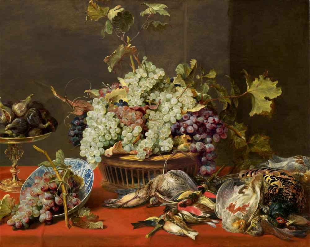 Still Life with Grapes and Game - Frans Snyders