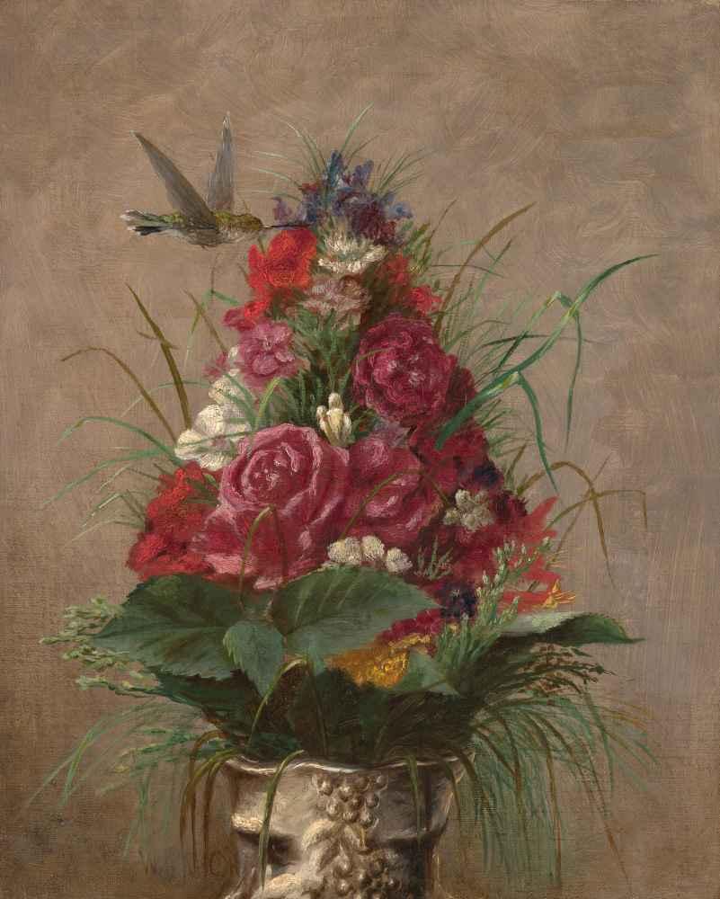Still Life with Hummingbird - William Merritt Chase