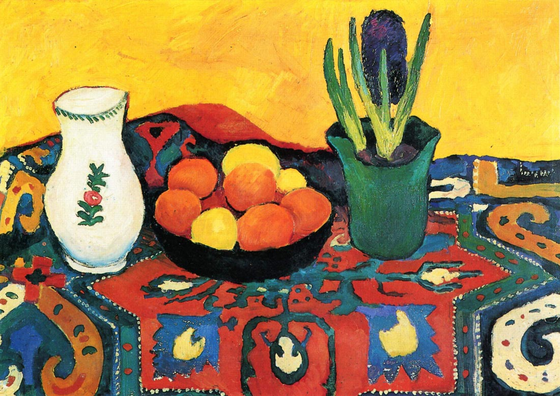Still Life with Hyacinthe - August Macke