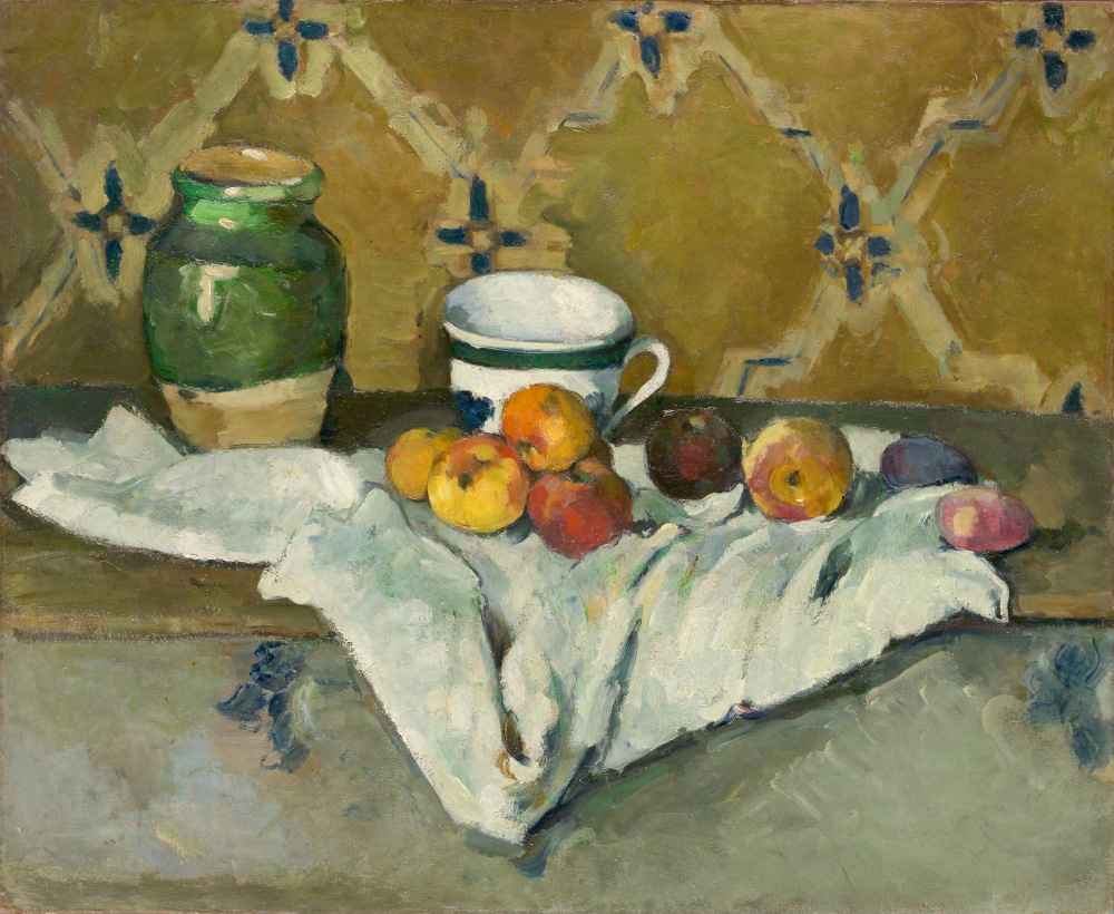 Still Life with Jar, Cup, and Apples - Paul Cezanne
