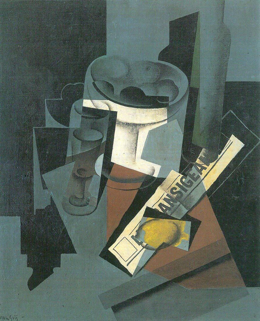 Still Life with Newspaper - Juan Gris