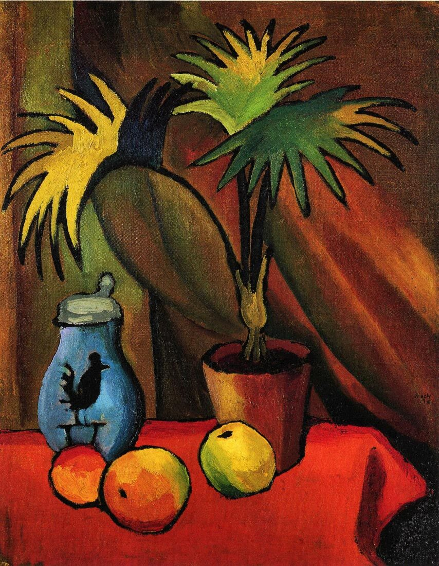 Still Life with Palms - August Macke