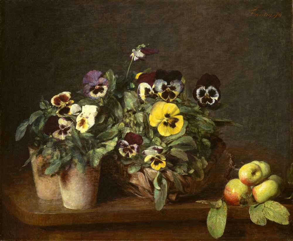 Still Life with Pansies - Henri Fantin-Latour