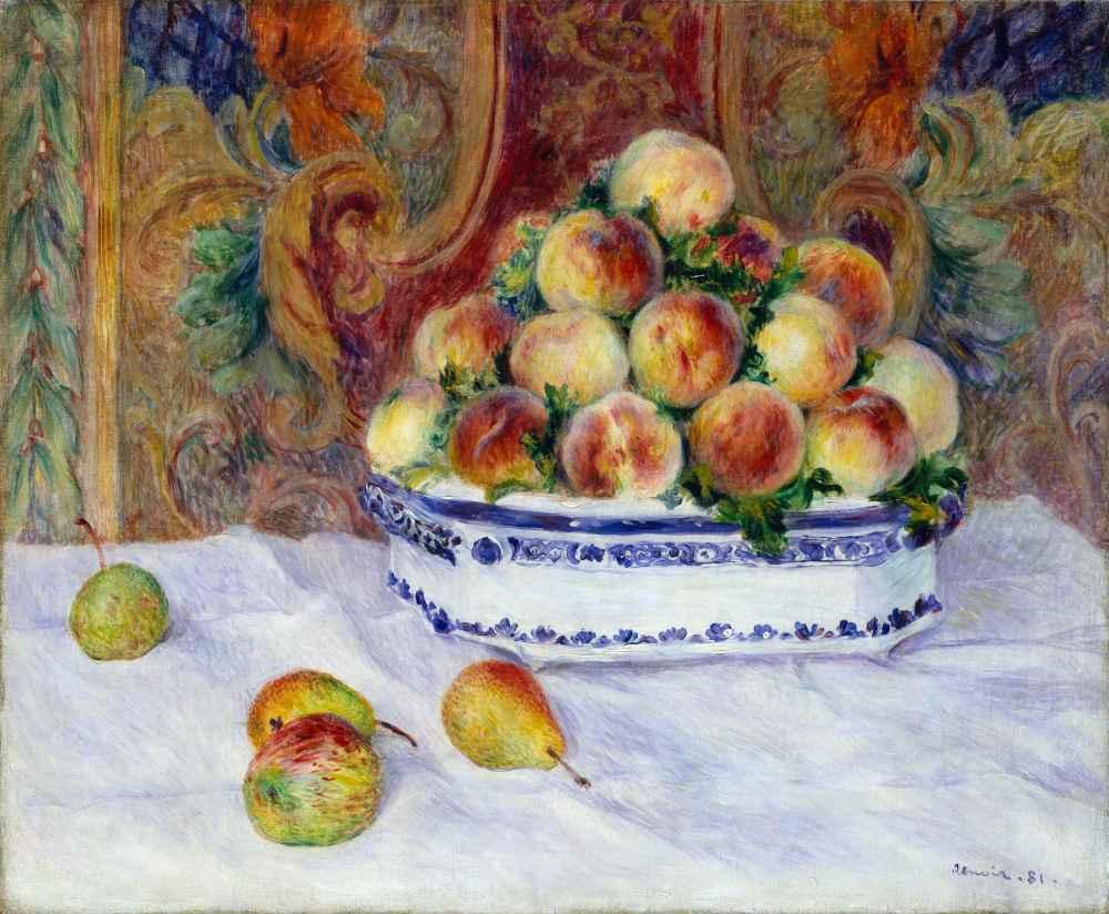 Still Life with Peaches - Auguste Renoir
