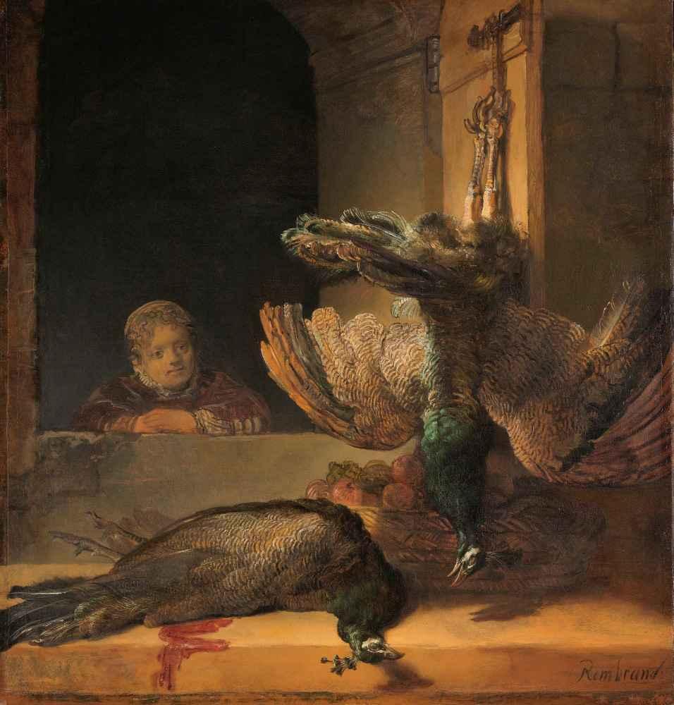 Still Life with Peacocks - Rembrandt Harmenszoon van Rijn