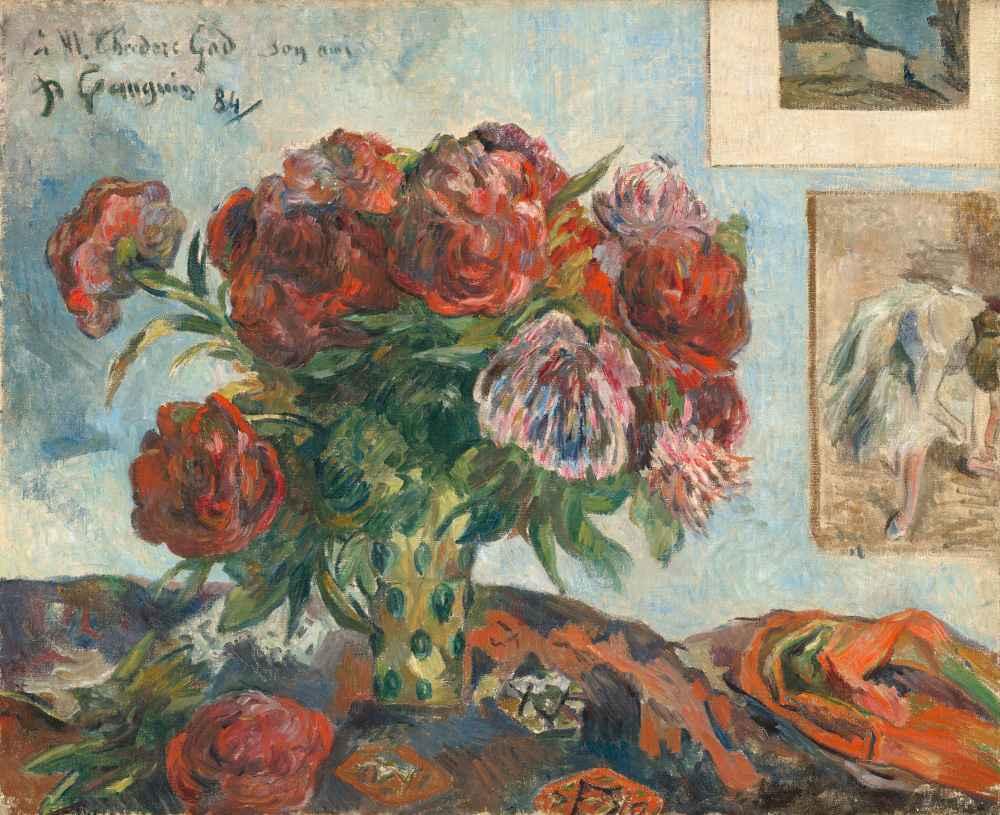 Still Life with Peonies - Paul Gauguin