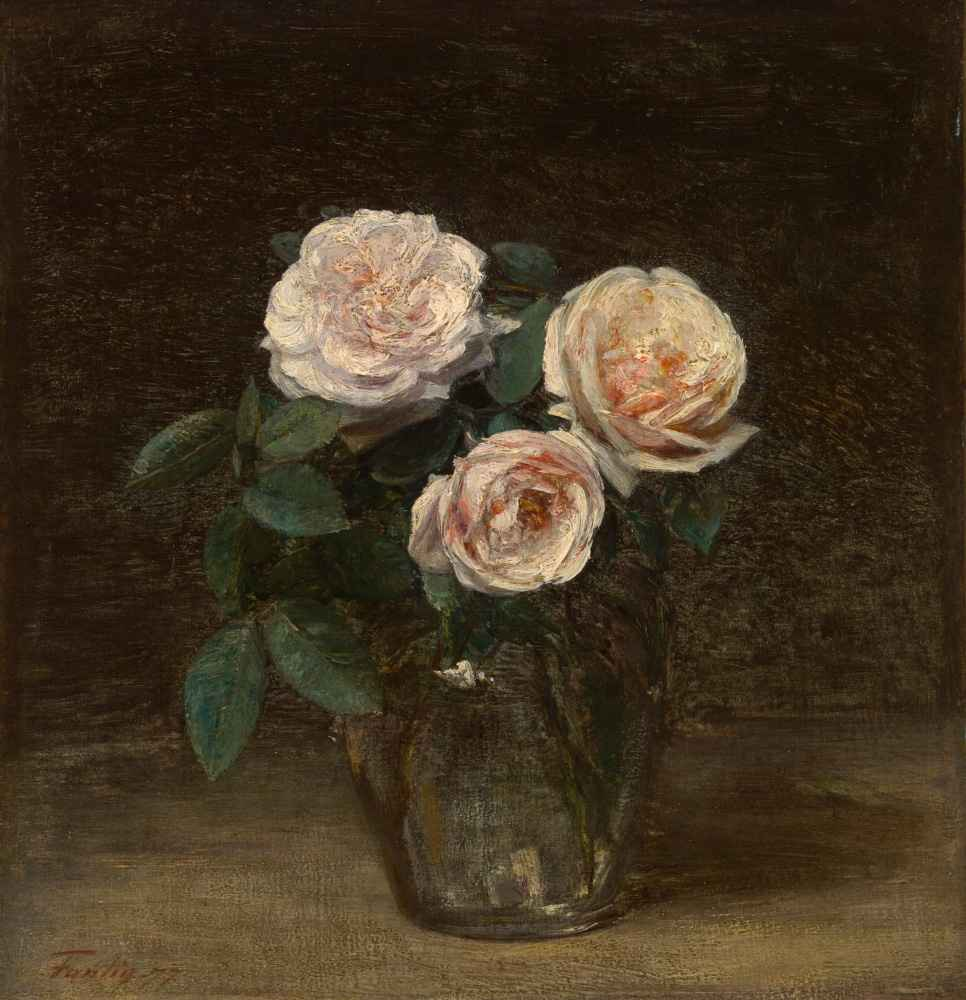 Still Life with Roses - Henri Fantin-Latour