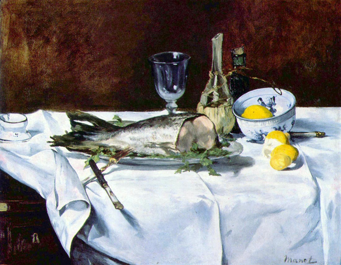 Still Life with Salmon - Manet
