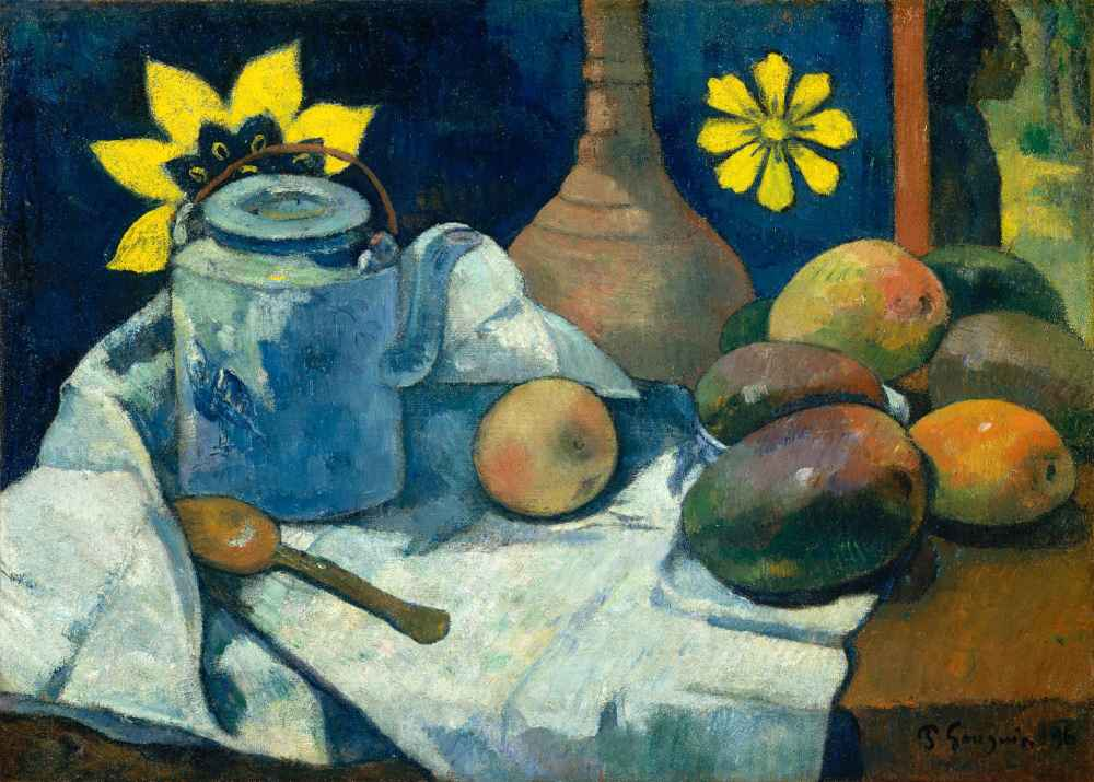 Still Life with Teapot and Fruit - Paul Gauguin